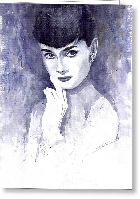 Audrey Hepburn  Greeting Card by Yuriy  Shevchuk