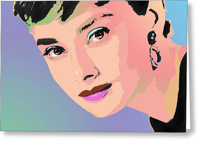 Greeting Card featuring the digital art Audrey by John Keaton