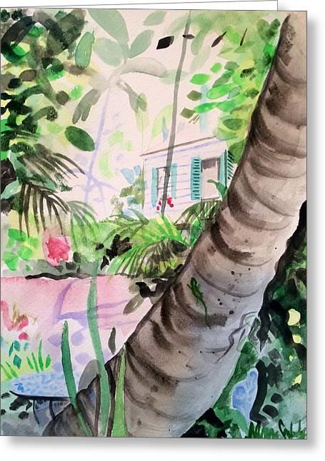 Audubon's Garden Key West  Greeting Card by Maggii Sarfaty
