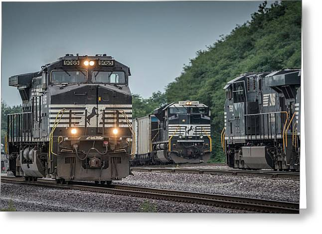 August 23, 2016 Norfolk Southern 9065 At Princeton In Greeting Card