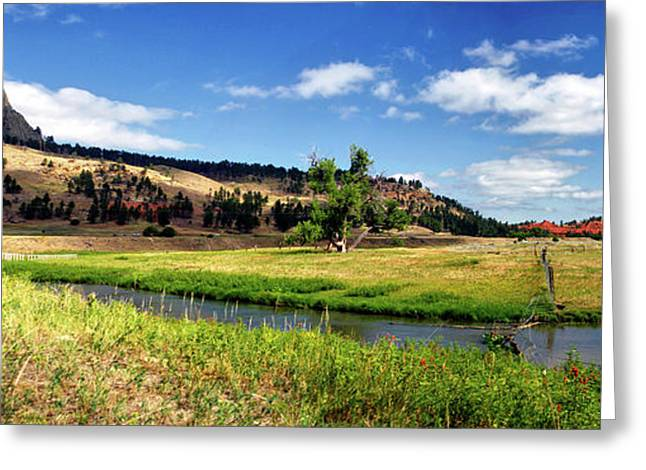 August At Wyoming Devils Tower Panorama 02 Greeting Card by Thomas Woolworth