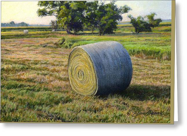 August Bale Study No.1 Greeting Card