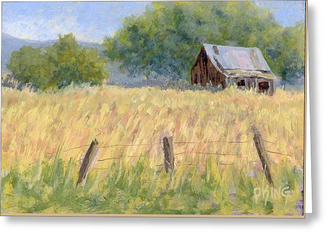 August Field Greeting Card by David King