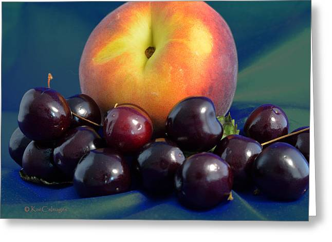 August Fruits Greeting Card