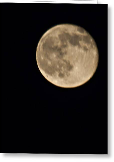 August Moon Greeting Card by Bill Perry