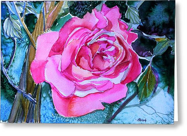 August Pink Greeting Card