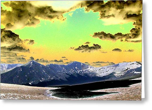 August Sky Greeting Card by Peter  McIntosh