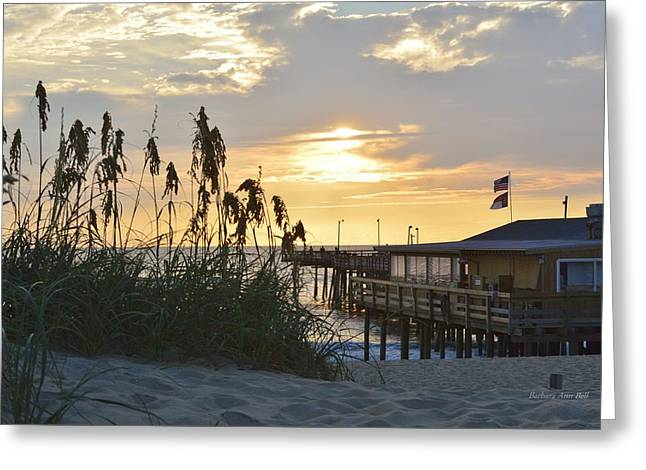 August Sunrise On The Obx  Greeting Card