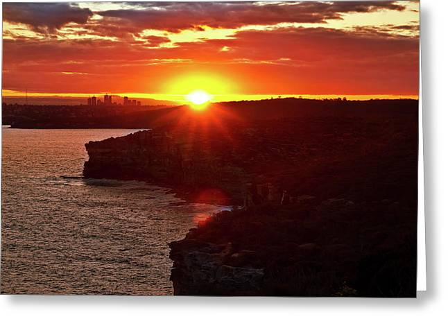 August Sunset From North Head Greeting Card