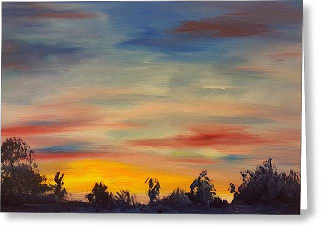August Sunset In Sw Montana Greeting Card