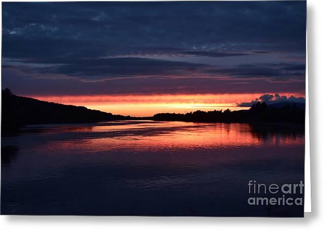 August Sunset Greeting Card by Joe Cashin