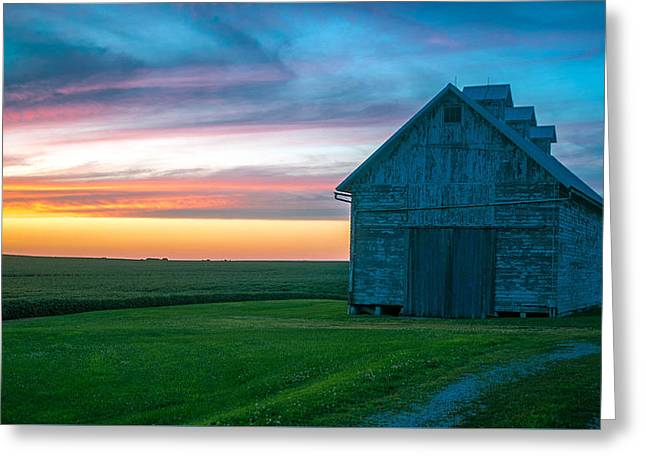 August Sunset  Greeting Card by Mark Johnson