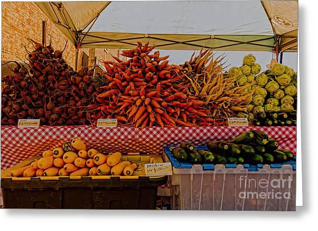 August Vegetables Greeting Card
