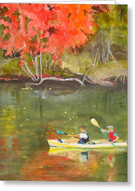 Jean Blackmer Greeting Cards - Augusta Canal Number Two Greeting Card by Jean Blackmer