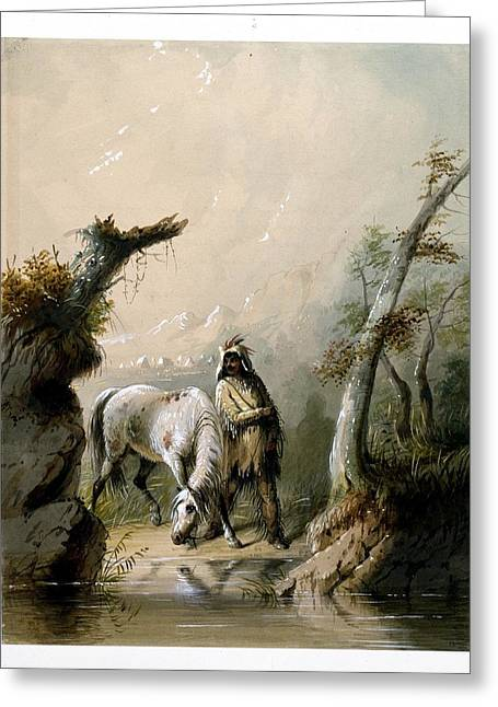 Auguste And His Horse Greeting Card