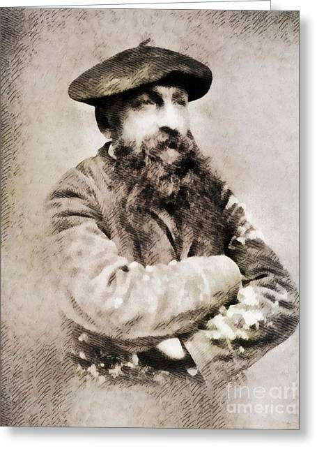 Auguste Rodin, Infamous Artist Greeting Card by John Springfield