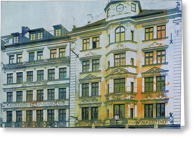 Augustiner Munich Greeting Card by Jutta Maria Pusl