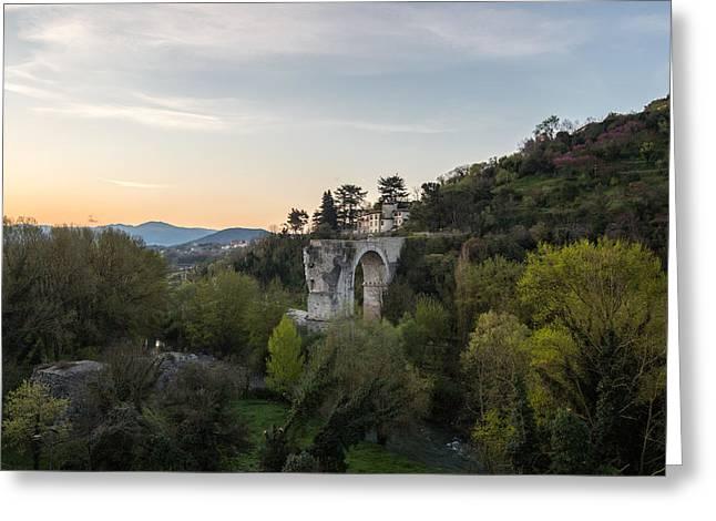 Augusto's Bridge Greeting Card by Davide Gennari
