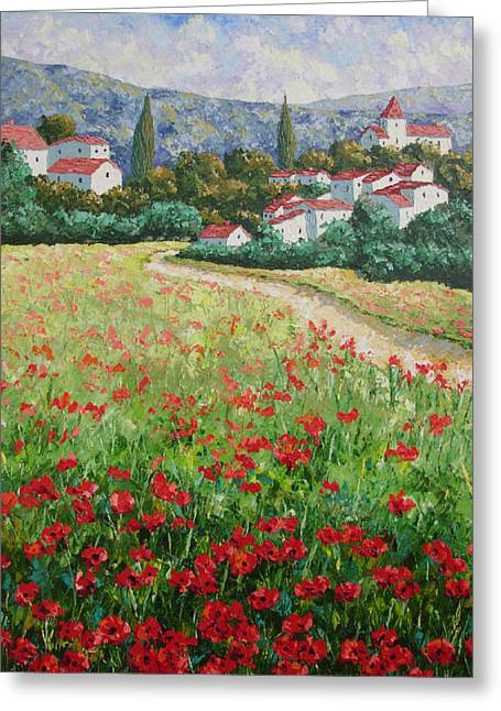 Aujac South Of France Greeting Card
