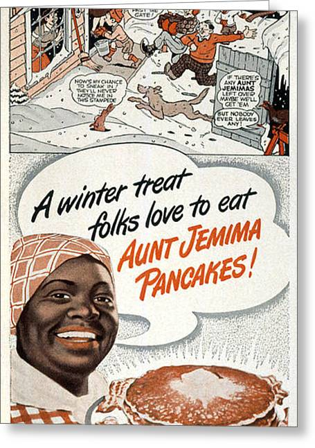 Aunt Jemima Ad, 1948 Greeting Card