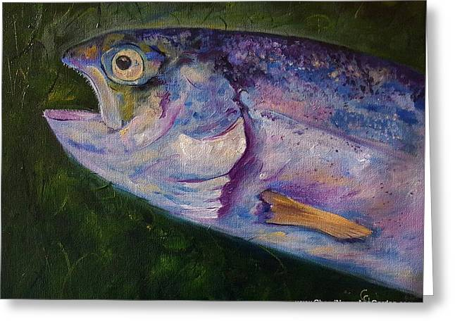 Aurons Rainbow Trout Greeting Card