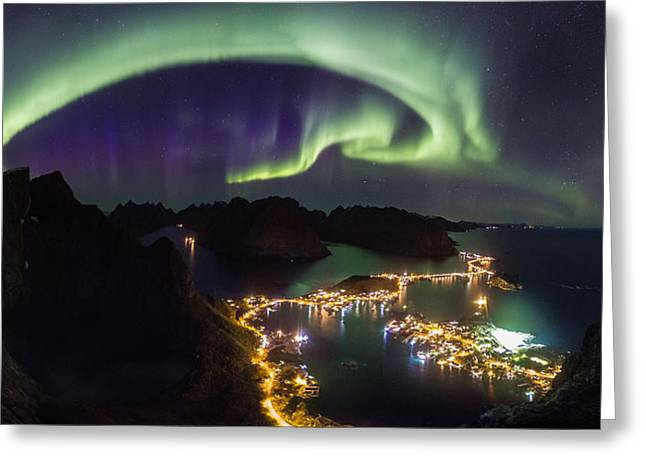 Aurora Above Reine Greeting Card