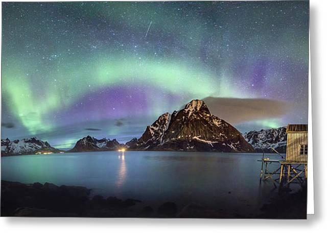 Aurora Above Reinefjord Greeting Card