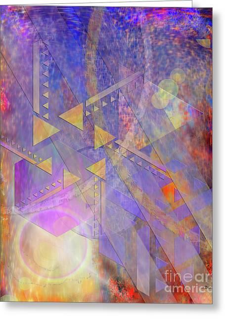 Aurora Aperture Greeting Card by John Robert Beck