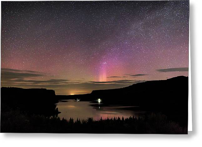 Greeting Card featuring the photograph Aurora At Lake Billy Chinook by Cat Connor