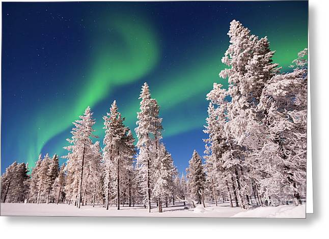Greeting Card featuring the photograph Aurora Borealis by Delphimages Photo Creations