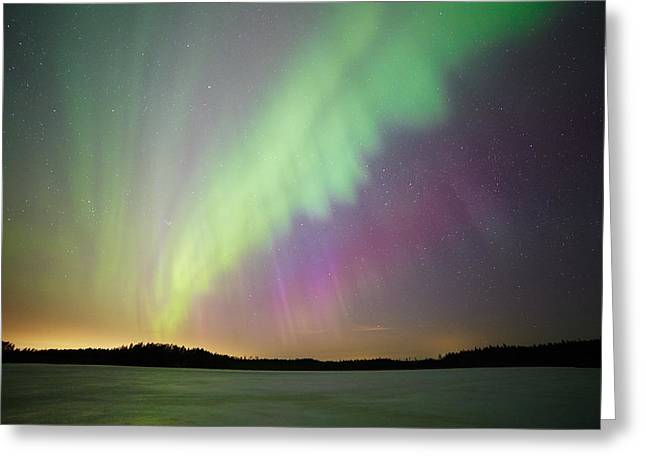 Aurora Borealis - Northern Lights Greeting Card by Teemu Tretjakov