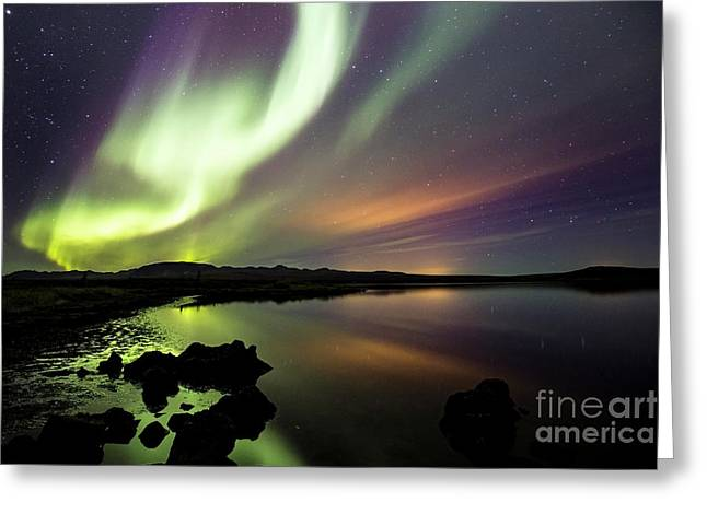 Aurora Borealis Over Thinvellir Greeting Card