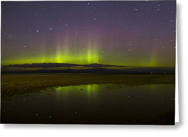 Aurora Borealis Greeting Card by Randy Hall