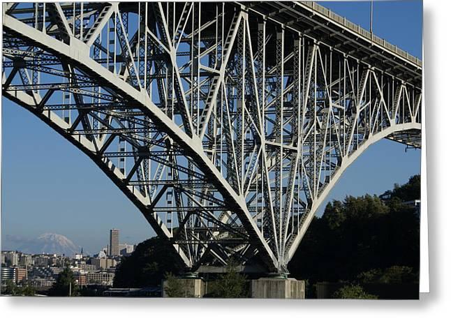 Aurora Bridge - Seattle Greeting Card by Sonja Anderson