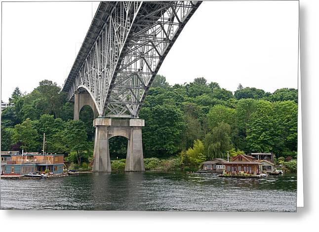 Aurora Bridge Greeting Card by Tom Dowd