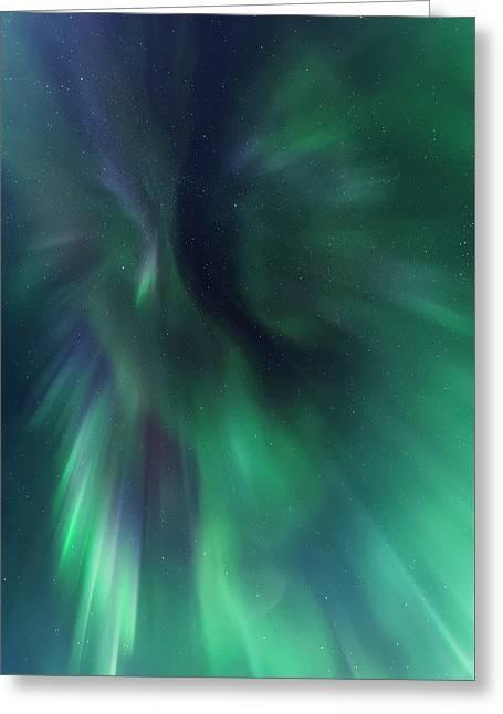 Aurora Kaleidoscope Greeting Card
