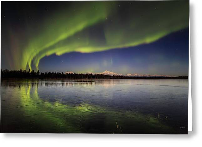 Aurora Lake Greeting Card