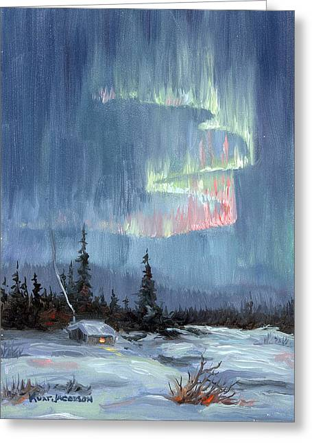 Aurora Lights Greeting Card