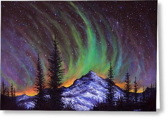 Aurora  Magic Greeting Card by C Steele
