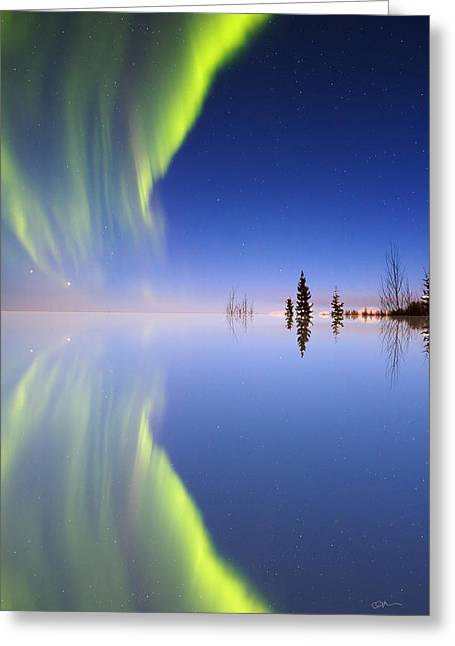 Aurora Mirrored Greeting Card