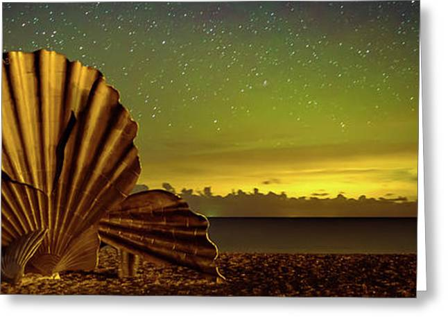 Aurora Over The Scallop Greeting Card by Ben Nichols Photography