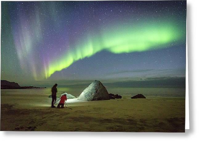 Aurora Photographers Greeting Card