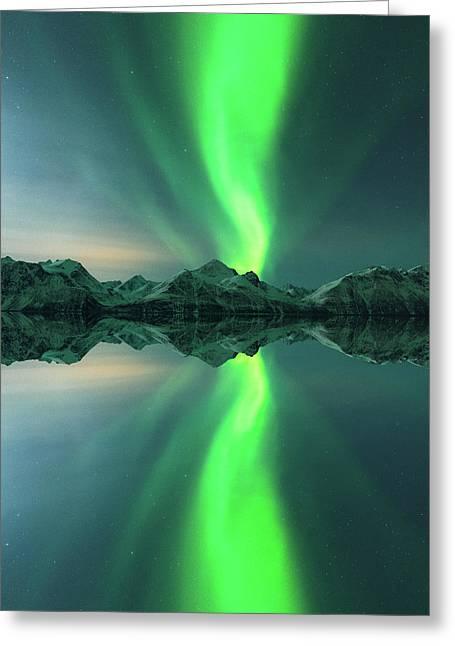 Aurora Powersurge Greeting Card