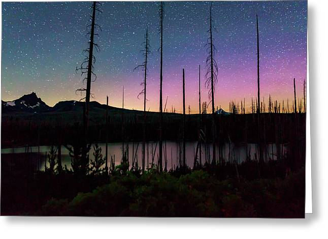 Greeting Card featuring the photograph Aurora Reflections by Cat Connor