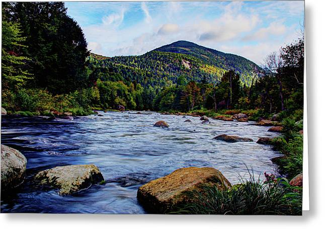 Ausable And Whiteface Greeting Card by Tony Beaver