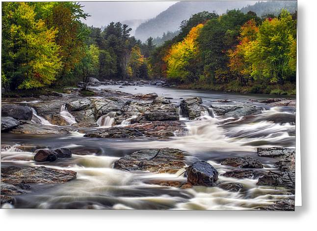 Greeting Card featuring the photograph Ausable Cascades by Mark Papke