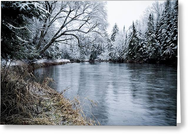 Ausable Winter Greeting Card by Todd Bissonette