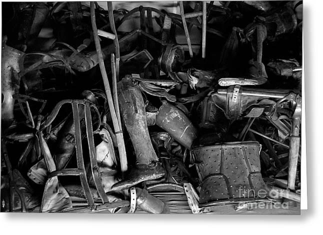 Auschwitz-birkenau Crutches Greeting Card by RicardMN Photography