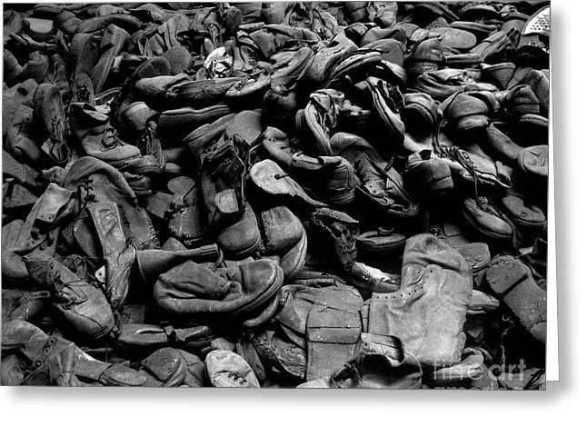 Auschwitz-birkenau Shoes Greeting Card