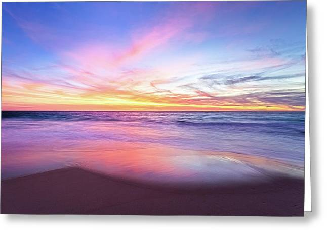 Aussie Sunset, Claytons Beach, Mindarie Greeting Card